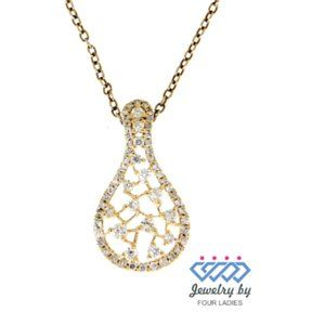 Solid Designer Fancy Diamond Pendant